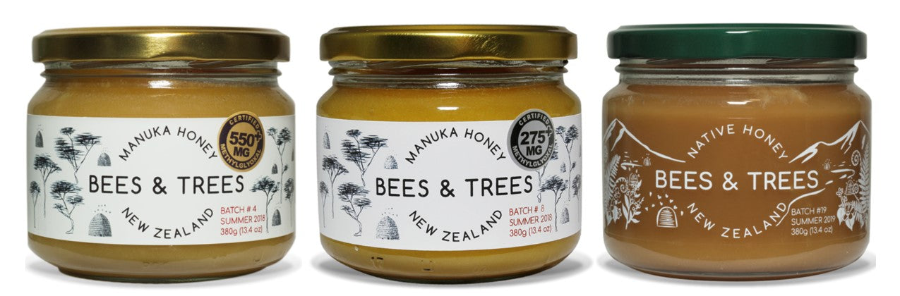 Bees & Trees Manuka and Native honeys