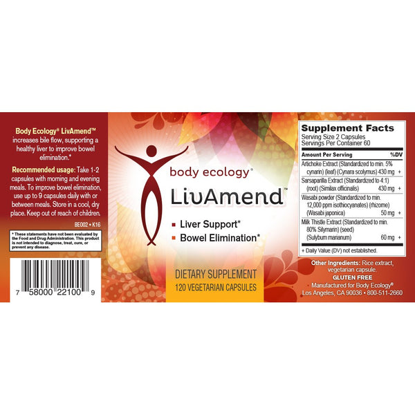 LivAmend 120 Capsules - Email Us For How To Order From USA