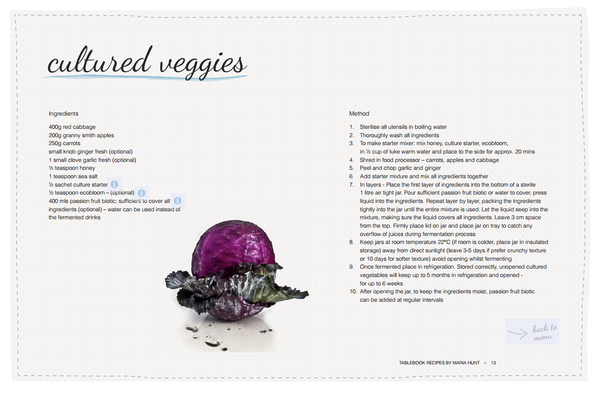 Full recipe for cultured veggies