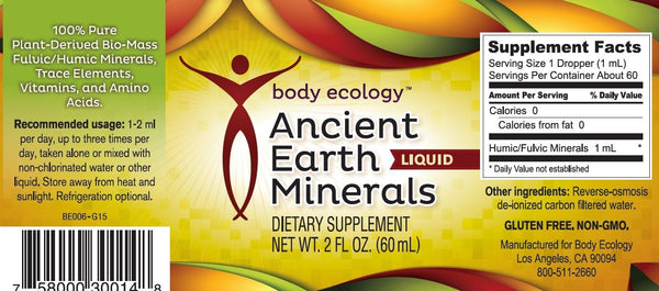 Ancient Earth Liquid Minerals 60 mls - Email Us for How To Order from USA