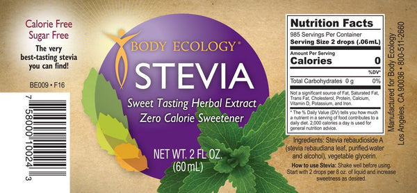 Stevia 60 mls - Email Us For How To Order From USA