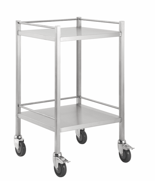 Stainless Steel Trolley 50cm Wide -No Drawers