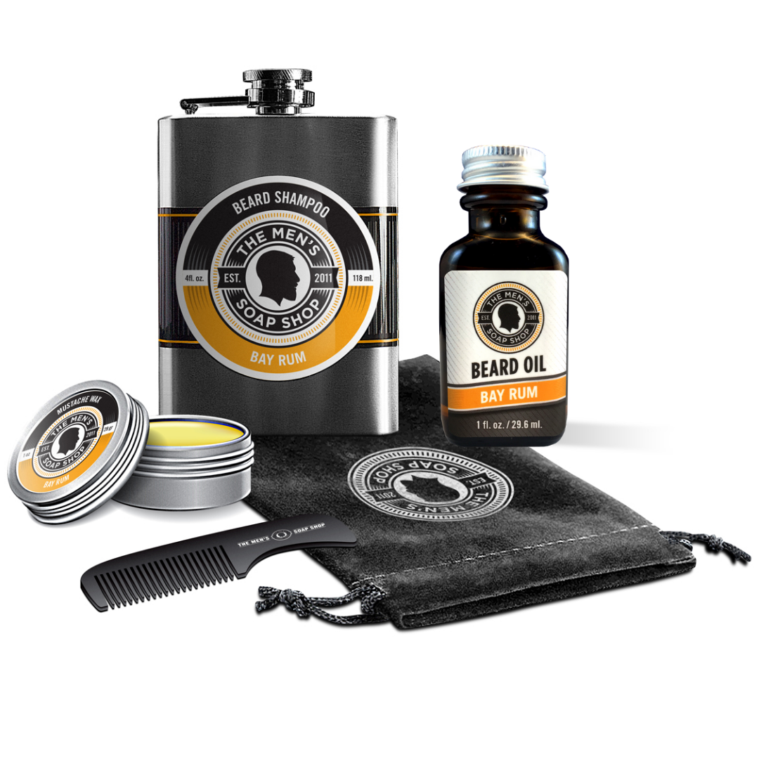 Beard Care Set Bay Rum - The Men's Soap Shop