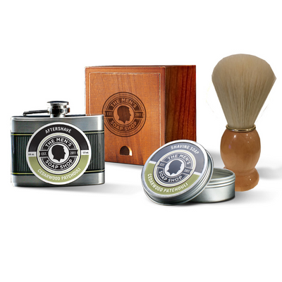 Shaving Alpha Set Cedarwood Patchouli - The Men's Soap Shop