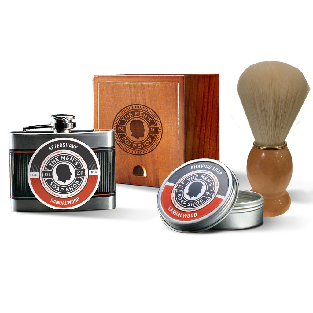 Shaving Alpha Set Sandalwood - The Men's Soap Shop
