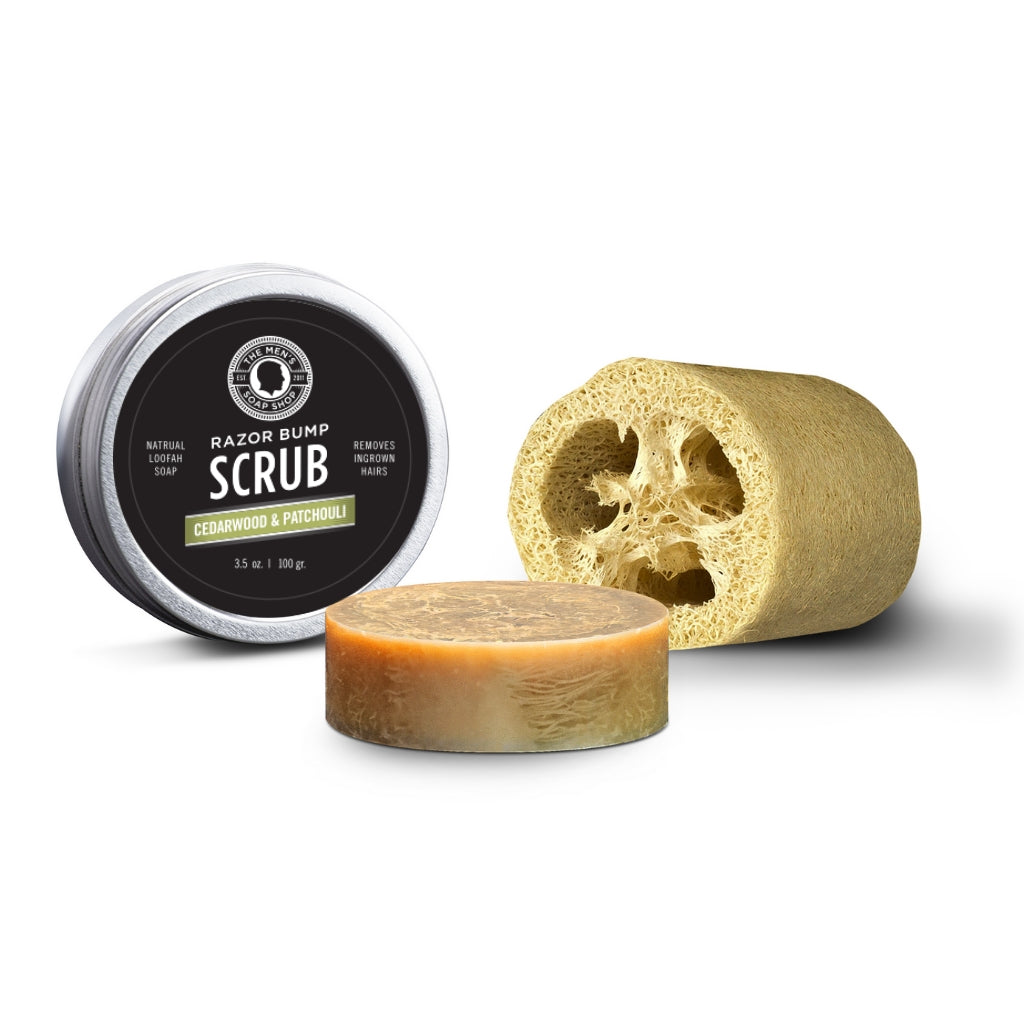 Razor Bump Scrub Cedarwood Patchouli - The Men's Soap Shop