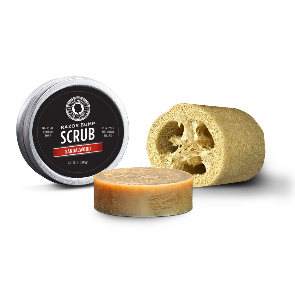 Razor Bump Scrub Sandalwood - The Men's Soap Shop