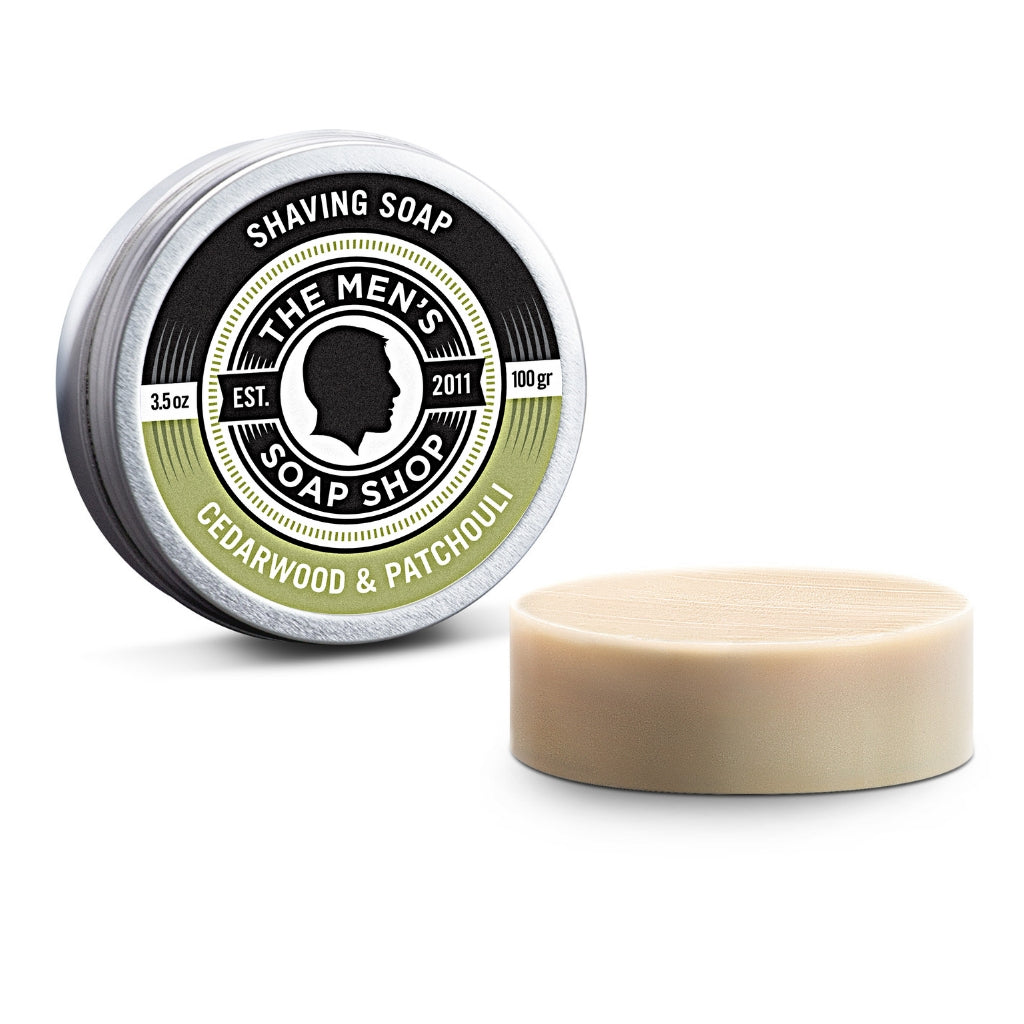 Shaving Soap Cedarwood and Patchouli - The Men's Soap Shop
