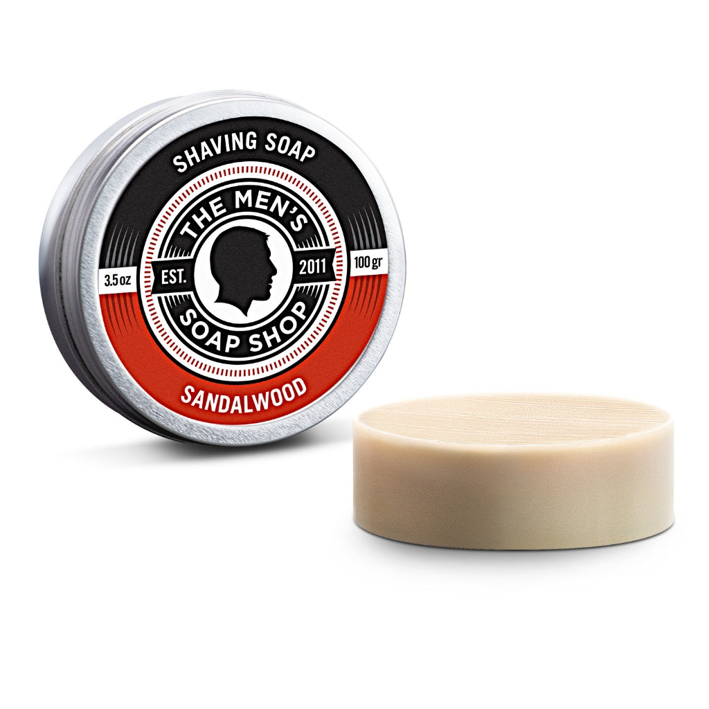 Shaving Soap Sandalwood - The Men's Soap Shop