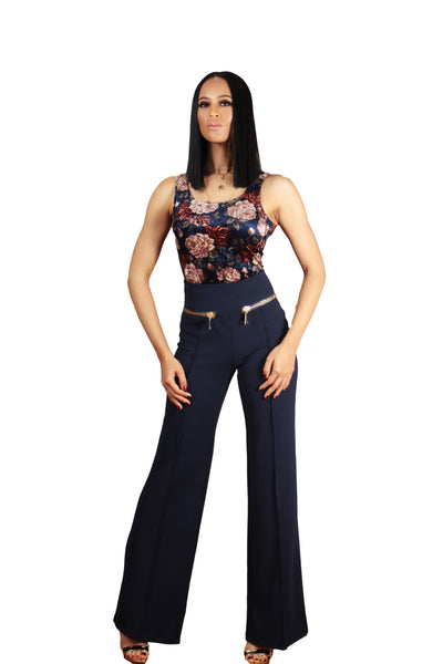 Zip Me Up High Waisted Trousers