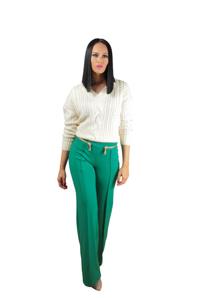 Zip Me Up High Waisted Trousers - BySonyaMarie.com