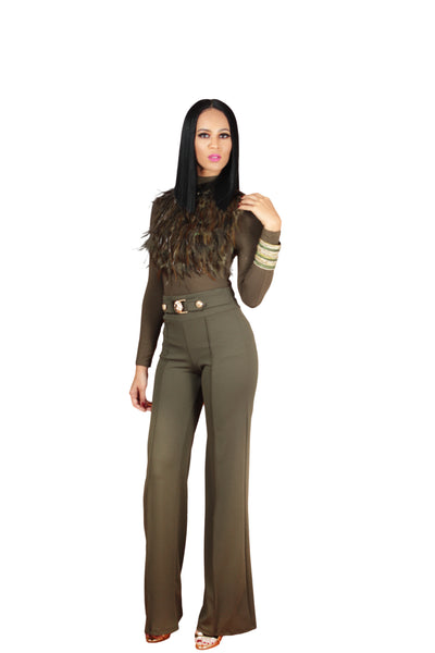 Lion High Waisted Trousers