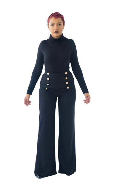 Casablanca High-Waisted Palazzo Trousers