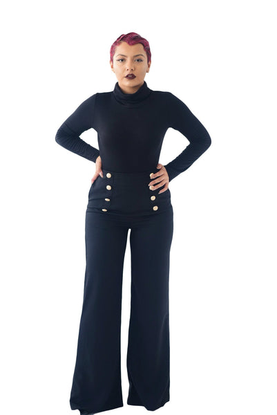 Casablanca High-Waisted Palazzo Trousers - BySonyaMarie.com