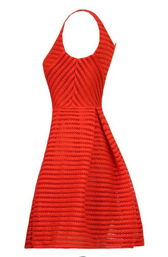 Clair Textured Skater Dress - BySonyaMarie.com