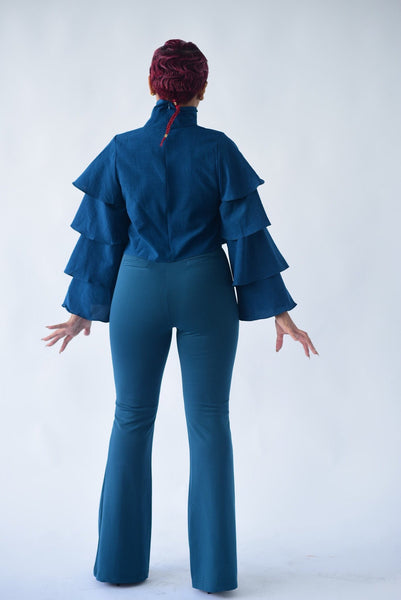 80's Flare High-Waisted Trousers - BySonyaMarie.com