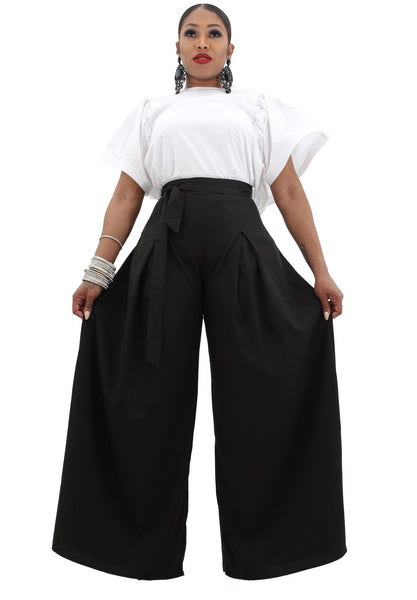 Mona Belted Palazzo Trousers - BySonyaMarie.com