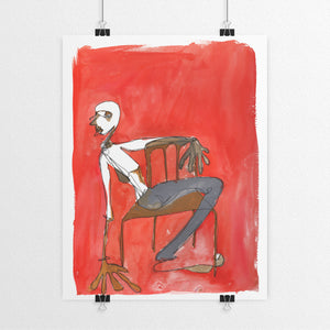 Red Chair Print