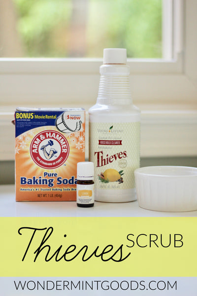 Thieves Essential Oil Cleaning Scrub DIY - Non-Toxic Home Cleaning