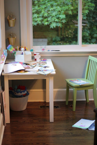 Kids Craft Table - Organizing Kids Crafts