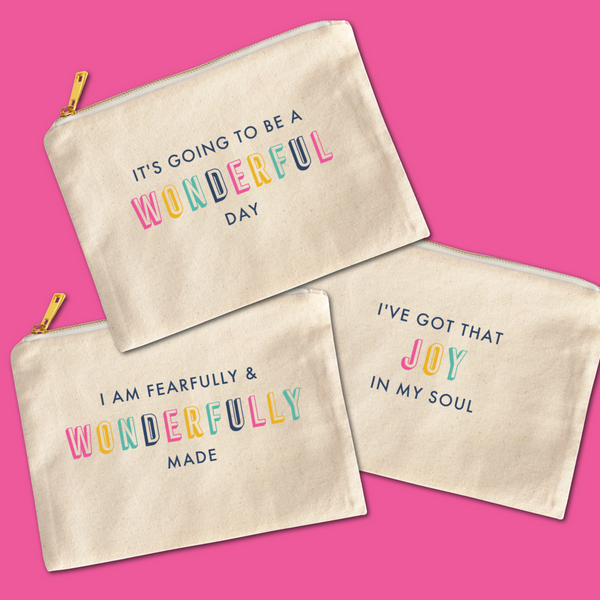Printed Cosmetic Pouch - You are fearfully and wonderfully made