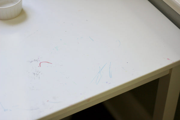 How to Clean Marker and Crayon off Craft Table