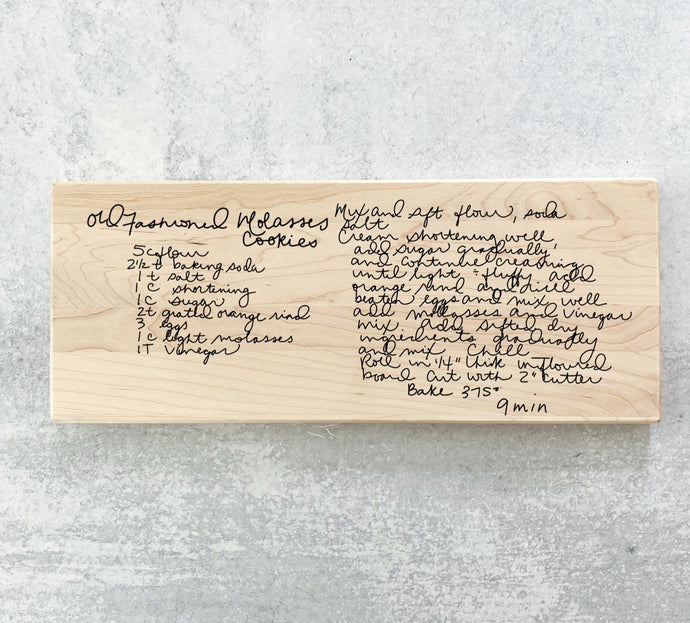 Custom Family Recipe Engraved Keepsake Cutting Board