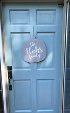 Load image into Gallery viewer, Pumpkin Door Hanger Personalized with Family Name - Wondermint Goods