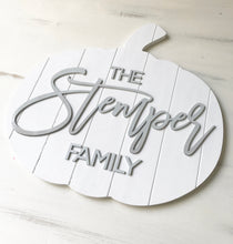 Load image into Gallery viewer, Wood Shiplap Pumpkin Door Hanger or Decor - Personalized - Wondermint Goods