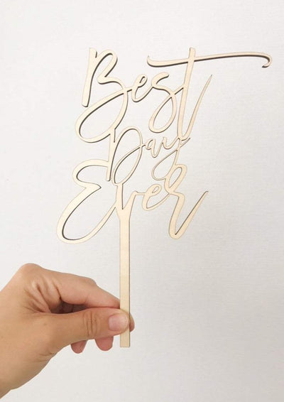 Best Day Ever Cake Topper - Wondermint Goods