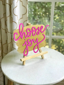 Choose Joy Painted Acrylic Sign - Inspirational Decor - Wondermint Goods