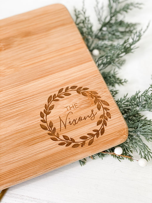 Custom Engraved Bamboo Cutting Board - Wondermint Goods