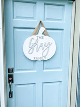 Load image into Gallery viewer, Wood Shiplap Pumpkin Door Hanger or Decor - Personalized