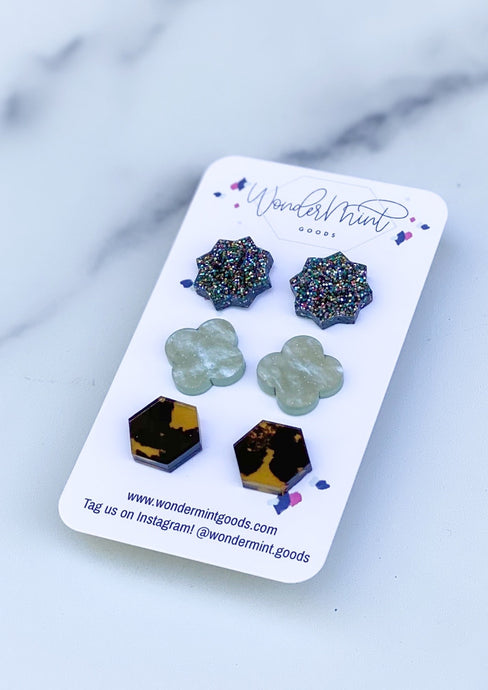 Acrylic Studs Set - Our Personal Favorites!