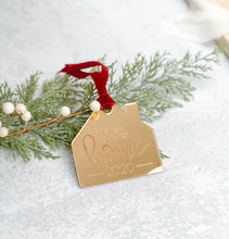 "Load image into Gallery viewer, Engraved ""The Year We Stayed Home"" Ornament"