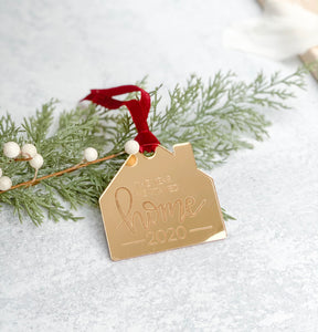 "Engraved ""The Year We Stayed Home"" Ornament"