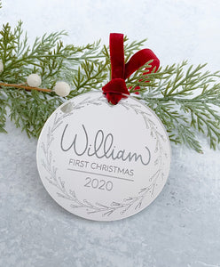 First Christmas Baby Ornament - Personalized