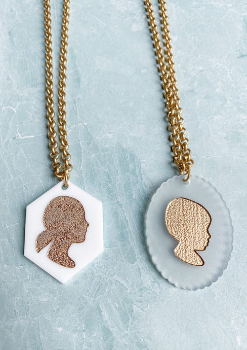 Custom Silhouette Keepsake Necklace