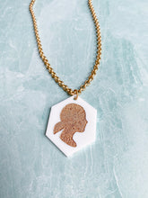 Load image into Gallery viewer, Custom Silhouette Keepsake Necklace