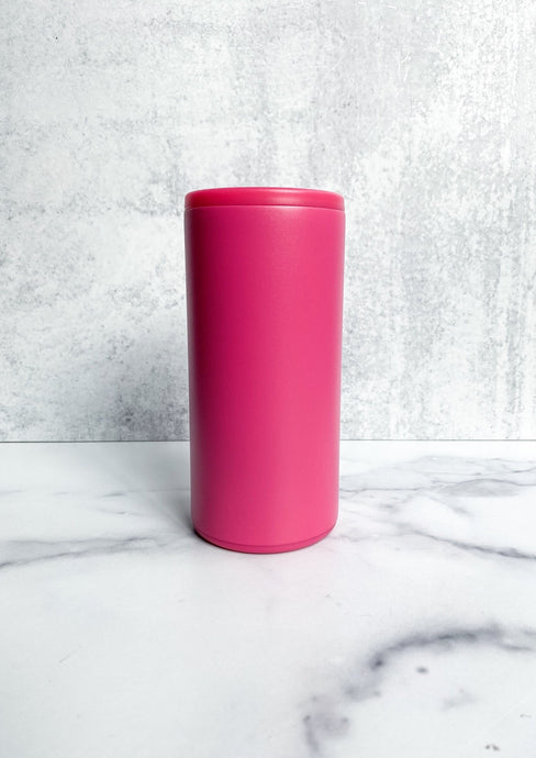 Swig Skinny Can Cooler - Matte Hot Pink - 12oz - FREE Personalization