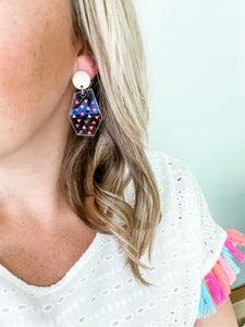 Confetti Clear Acrylic Geometric Earrings | Triangle - Wondermint Goods