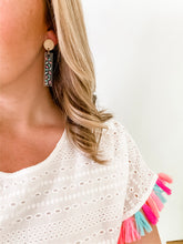 Load image into Gallery viewer, Confetti Clear Acrylic Bar Earrings - Wondermint Goods
