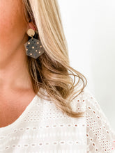 Load image into Gallery viewer, Dot Clear Acrylic Hexagon Earrings - Wondermint Goods