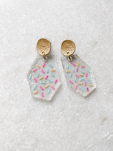 Load image into Gallery viewer, Confetti Clear Acrylic Geometric Earrings | Sprinkle - Wondermint Goods