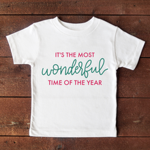 Load image into Gallery viewer, It's the most wonderful time of the year - Toddler Short Sleeve Tee