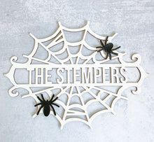 Load image into Gallery viewer, OCTOBER DEAL: Halloween Spiderweb Name Wreath Insert