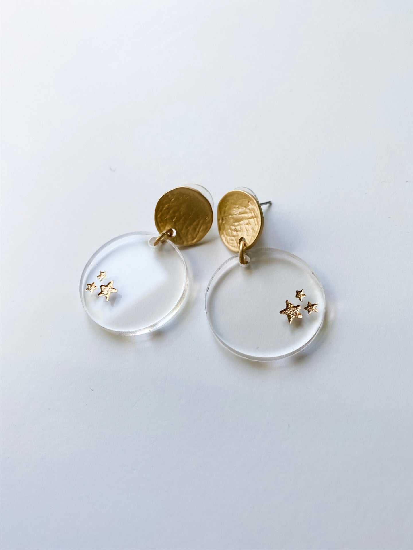 Clear Acrylic Star Circle Earrings - Wondermint Goods
