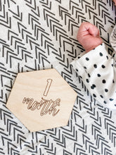 Load image into Gallery viewer, Baby Milestone Cards | Wood Baby Milestone Photo Cards | Baby Monthly Milestone Photo Prop - Wondermint Goods