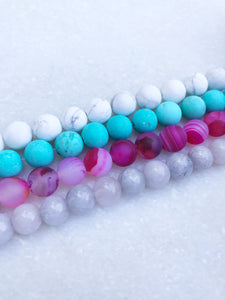 Personalized Name Acrylic Bar Beaded Bracelet - Wondermint Goods