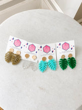 Load image into Gallery viewer, Monstera Leaf Acrylic Earrings - Wondermint Goods